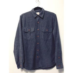 J. Crew Dark gray chambray workshirt